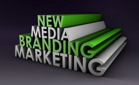 Marketing Brand in the New Media Concept Stock Photo - 7004183