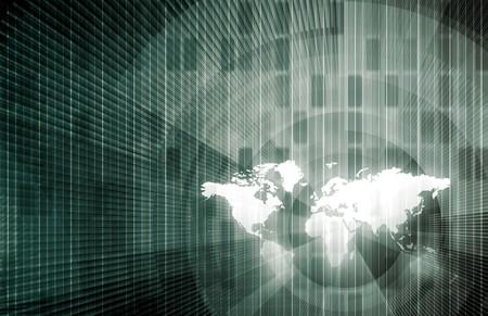 Zakelijke trends en monitor ing van de gegevens als een concept  Stockfoto