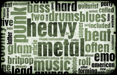 metal: Heavy Metal Music Poster Art as a Background