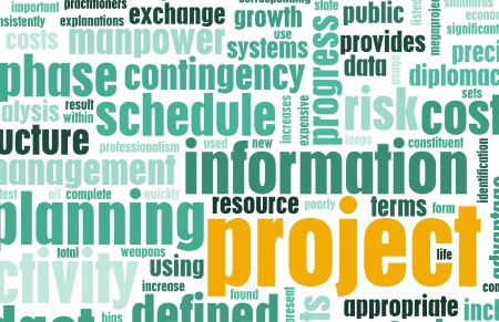 project management: Project Management and Planning as a Background Stock Photo