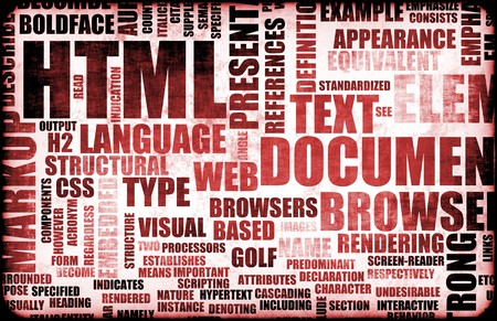 Red HTML Script as an Education Background Stock Photo - 7004241