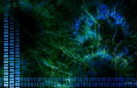 Neural Network Internet Tech Abstract Art Blue Stock Photo - 7028012