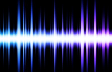 Soundwave Digital Graph as Clip Art Abstract Stock Photo - 7027971