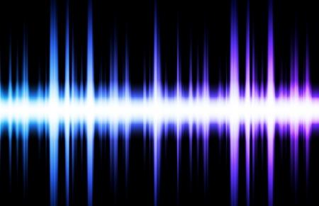 vibrations: Soundwave Digital Graph as Clip Art Abstract Stock Photo