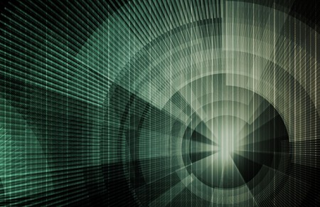 programme: Modern Technology Code Illustration Lines as Art