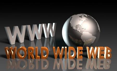 worldwideweb: WWW World Wide Web 3d come concept  Archivio Fotografico
