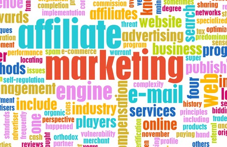 affiliates: Affiliate Marketing Web Concept as a Abstract