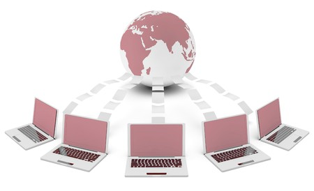 Content Management System in 3d File Sharing Art Stock Photo - 7027951