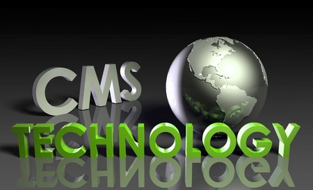 cms: CMS Technology Internet Abstract as a Concept  Stock Photo