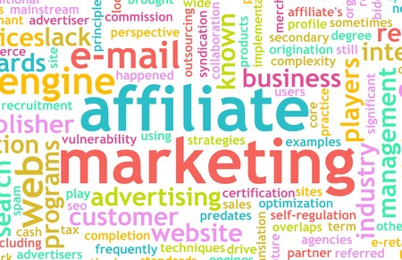 affiliate: Affiliate Marketing Web Concept as a Abstract