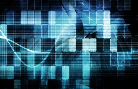 Futuristic Technology Concept as a Data Abstract Standard-Bild