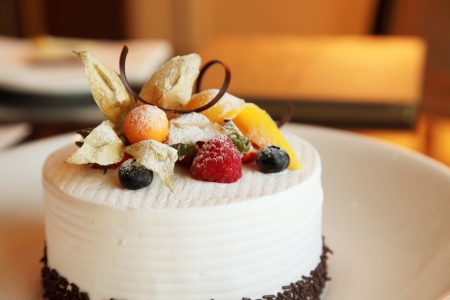 an icing: Hotel Cake in a Cooking Baking Course Class