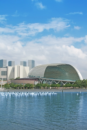 esplanade: A Singapore Tourism City Skyline Culture Theater
