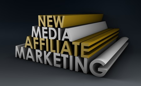 Affiliate Marketing Concept on a Online Referral Stock Photo - 7074693