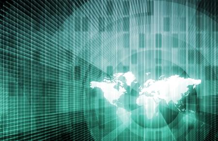 La technologie de l'information au niveau international Banque d'images - 7074775