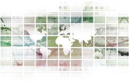 Globale net werk concept als een illustratie Art
