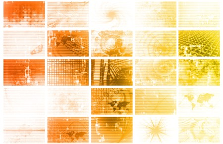 Futuristic Web Cyber Data Grid Color Background Stock Photo - 7074760