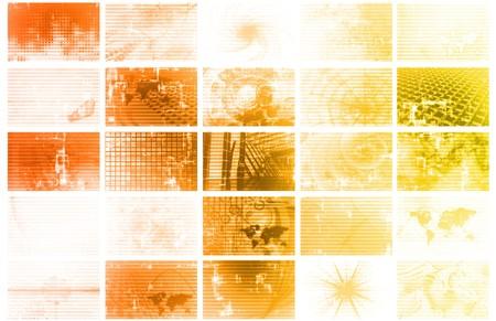 Futuristic Web Cyber Data Grid Color Background Stock Photo - 7074760