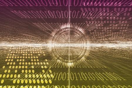 web portal: Futuristic Technology Data Flow Color Digital Abstract