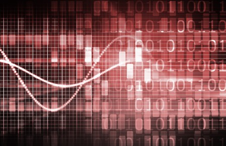 Virtual Technology with Data Network Stream Art Stock Photo - 7074749