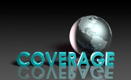 Global Coverage Service System Worldwide in 3d photo