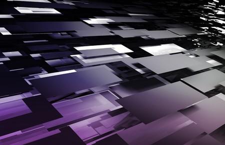 Web Creative Artistic Fractal as Mosaic Design