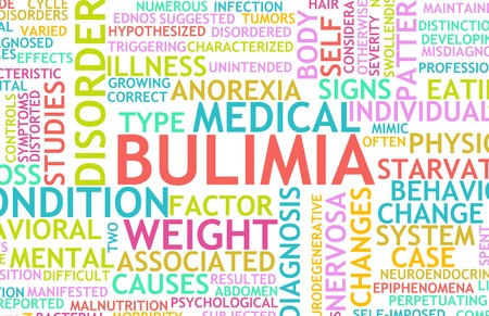 oorzaken: Boulimie Nervosa Eating Disorder als een concept Stockfoto