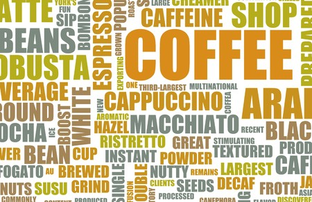 Coffee Menu Choices as a Creative Background Stock Photo - 7074696