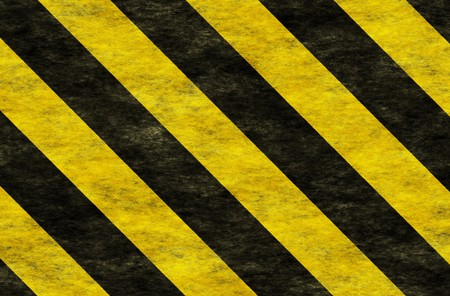Black Yellow Hazard Stripes as Grunge Background
