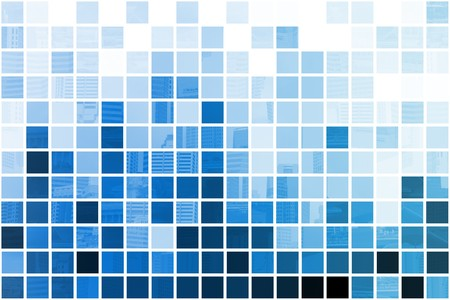 Blue Simplistic and Minimalist Abstract Block Background Stock Photo - 7098172