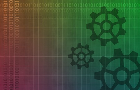 Technology Background with Cogs A Design Abstract photo