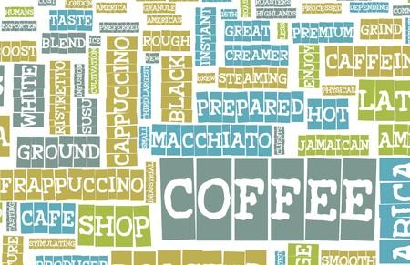 Coffee Menu Choices as a Creative Background Stock Photo - 7098203