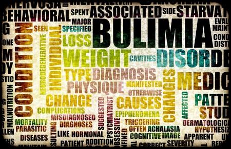 wanorde: Boulimie Nervosa Eating Disorder als een concept Stockfoto