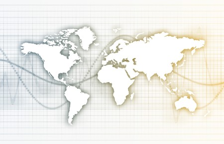 Global Business System Data as Background Wallpaper