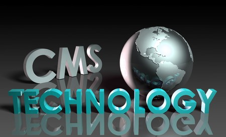 CMS Technology Internet Abstract as a Concept Stock Photo - 7107137
