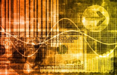 technology: Orange Money Technology Business Background as Art Stock Photo