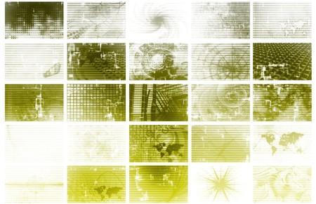 Futuristic Web Cyber Data Grid Color Background Stock Photo - 7119828