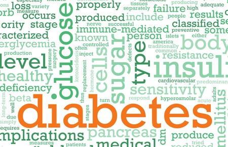 concept: Diabetes Illness Concept with a Terminology Art Stock Photo