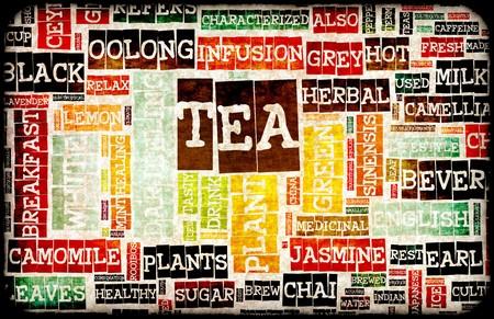 食品飲み物背景として各種の紅茶メニュー 写真素材