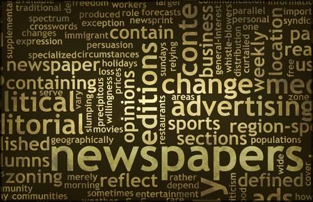 신문 업데이트 및 헤드 라인의 신문 개념 스톡 콘텐츠 - 7119769