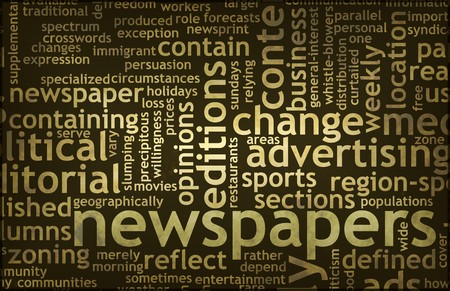 Newspapers Concept of News Updates and Headlines Stock Photo - 7119769