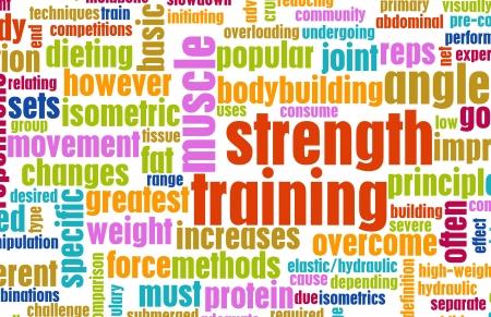 r�sistance: Concept de formation de force comme un Fitness Workout