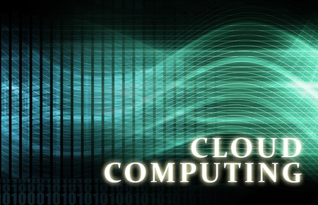 cloud: Cloud Computing Server Technology as a Abstract Stock Photo