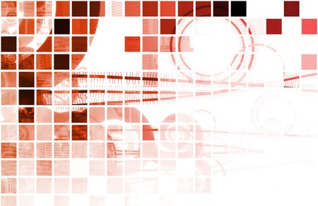 Red Data Network Internet Tech Abstract Art Stock Photo - 7129979