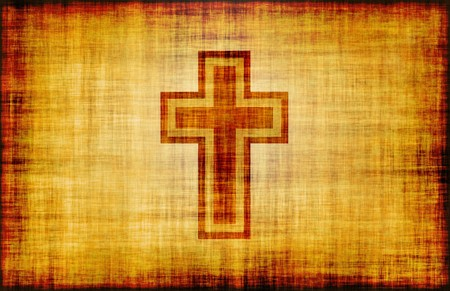 Christian Cross Bible Poster Design as Abstract photo