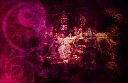 heaven on earth: Heaven and Earth Asian Yin Yang Abstract