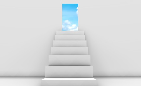 step: Stairway to Heaven in 3d Concept Background