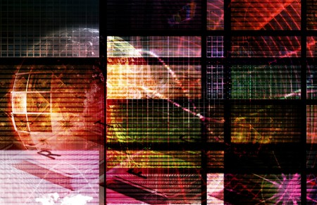 Technology Collage as a Digital Background Art Stock Photo - 7130006