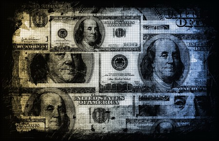 greenbacks: US Dollar Abstract Currency Notes as Background