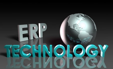 ERP systeem technologie abstract als een concept